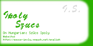 ipoly szucs business card